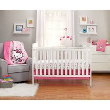 hello kitty hello kitty cute as a on 3 piece crib bedding set com