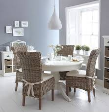 white dining table shabby chic country.
