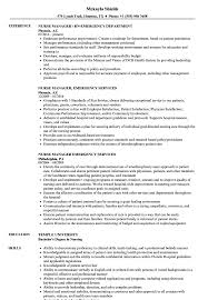 Emergency Nurse Resume Samples Velvet Jobs