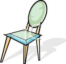 dining chair clipart. a colorful cartoon of dining room chair - royalty free clipart picture d