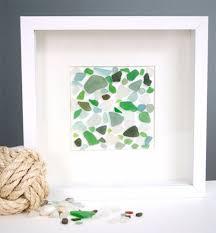 sea glass wall art framed beach glass