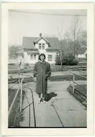 1948 Photo IA Iowa Audubon High School Teen Girl Joan Summers Sidewalk  Houses   eBay