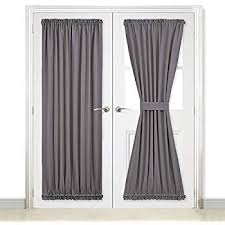 french doors curtains. Fine French NICETOWN Grey French Door Curtains  Blackout Patio DoorGlass Curtain  Panel For Privacy To Doors Amazoncom