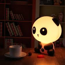 Night Lamp For Bedroom 2017 Pretty Cute Panda Bear Cartoon Animal Night Light Baby Room