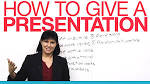 Ways to give a presentation