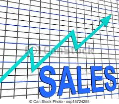 Chart That Shows Sales Chart Graph Shows Increasing Profits Trade