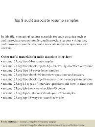 top8auditassociateresumesamples 150409002522 conversion gate01 thumbnail 4 jpg cb 1428557171