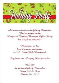 Sample Invitation For Christmas Party From Company Holiday Party