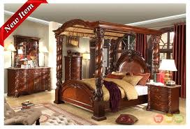 king size wood canopy bed – gamesplus.me