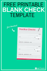 blank check templates blank check template teaching teens how to manage money frugal