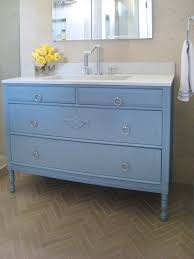 built bathroom vanity design ideas: antique gray bathroom vanity under mirrored cabinet on parquet bathroom floor full size