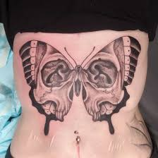 My Beautiful Skull Butterfly Done By James Morgan At Art With Heart
