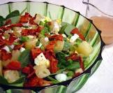 baby spinach with garlic cream and coriander