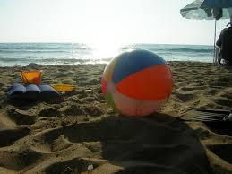 beach ball on beach. Beach Ball | By Valentinapowers On