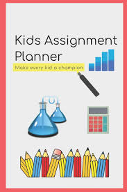 Kids School Assignment Planner Book Tracker Notebook For Student