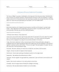 mission statement examples business sample mission statement 8 examples in pdf word
