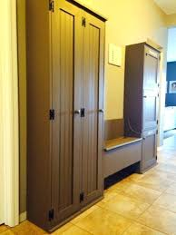 solid wood mudroom storage locker with door has useful and great for organizing entryways this can