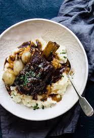 slow cooker beer braised beef short