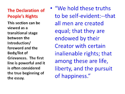 the declaration of independence as a formal essay ppt  5 the declaration