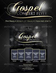 Free Flyer Layout Gospel Concert Poster Design 32 Best Church Flyer
