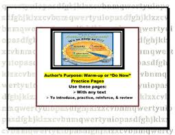 author s purpose warm up or do now pages log bell ringer