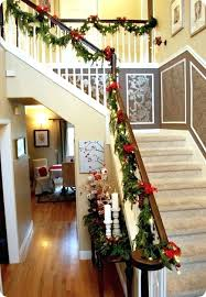... Full Image for Banister Christmas Decorations Best Stairs Decoration  For Ideas A Perfect Garland Staircase Banister ...