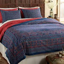 india handmade block print cotton duvet cover and shams rajasthani remembrance