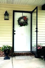 how wreath hanger for storm door magnetic do you hang a on front red watermelon with wreath hangers best hanger for storm door green steel glass
