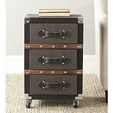 black and silver furniture. safavieh home collection lewis black brown u0026 silver 3 drawer rolling chest and furniture i