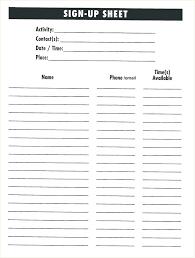 Sign Up Sheet Template Vbs Volunteer Puntogov Co