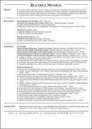 Example Resumes For Teachers Sample Resume For Experienced Teachers In India Sample Resume For