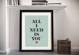 all i need is you framed wall art on quote wall art australia with all i need is you typography quotes wall art canvas prints australia