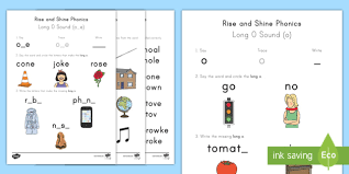 In these phonics activities, your child will learn to recognize the sounds each letter makes, from mastering the alphabet to more challenging concepts. Long O Sound Worksheets Rise And Shine Phonics Ela Twinkl