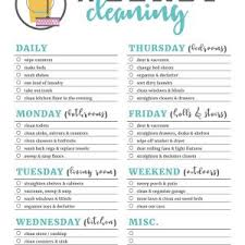 Daily Weekly Monthly Yearly House Cleaning Schedule Archives