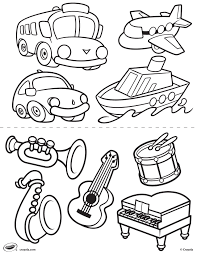 Small Picture First Pages Transportation and Instruments Coloring Page