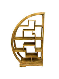unusual furniture. ambala cube light mango wood curved display unit arched shelving unusual furniture