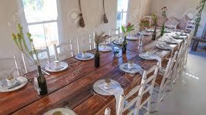 Wedding Reception Table Layout Wedding Reception Rustic Reception Table Layout Stock Photo Picture