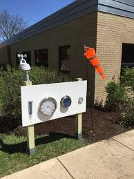 school garden weather station to the