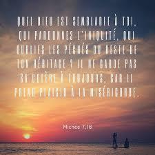 La Bible Verset Illustré Michée 718 Quel Dieu Est Semblable à