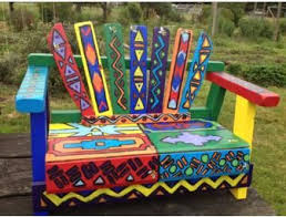 funky furniture and stuff. hand painted garden bench from barbara vallergau0027s first grade class biddingforgood fundraising auction funky furniture and stuff