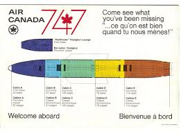 Air Canada 747 Seat Map Airline Flights Boeing 747