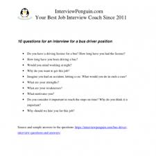 Job Interview Questions And Answers 10 Interview Questions And Answers For A Bus Driver Job