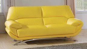 Yellow leather sofa 12