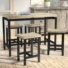 Laurel Foundry Modern Farmhouse Bourges  Piece Pub Table Set - Dining room tables columbus ohio