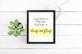 Education Quotes For Teachers Cool Back To School Gifts For Teachers Education Quotes Teacher Etsy