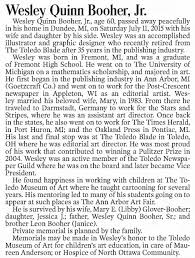 Obituary for Wesley Quinn Booher (Aged 60) - Newspapers.com
