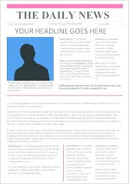 Newspaper Template Old Google Docs New York Times Templates