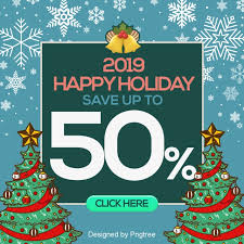 Free Christmas Website Templates The New Year Fashion Simple Cartoon 2019 Is Sns Promotional