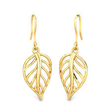 gold earrings 414 gold earrings designs starting from 3746 candere by kalyan jewellers
