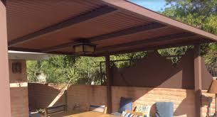 Roof Shade Design Corrugated Steel Shade Roof Phoenix Landscape Design